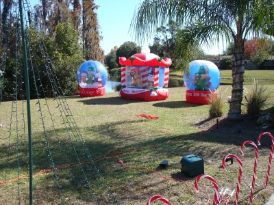 Repaired Inflatables displayed for the first full season