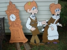 New Cut Outs :: Clock, Joshua & Sara Trundle ('Twas the Night Before Christmas)